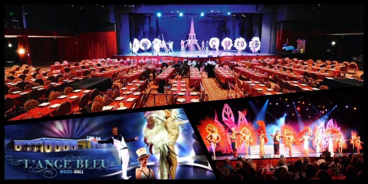 Cabaret l'Ange Bleu bordeaux music hall magie