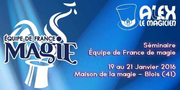 stage équipe de france de magie ffap maison de la magie blois