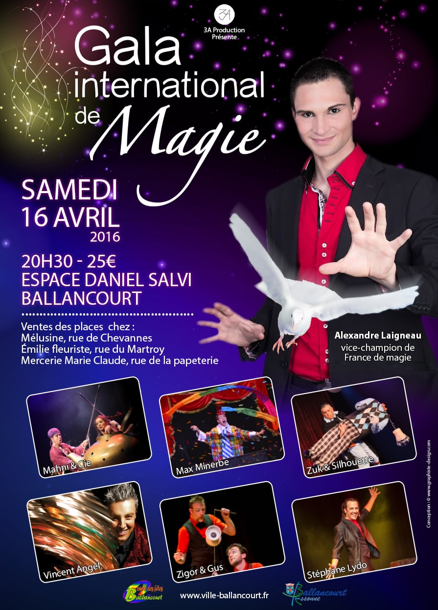 Affiche Gala international de magie à Ballancourt