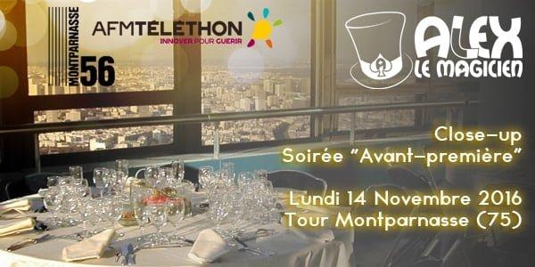 Avant première Téléthon Tour Montparnasse espace 56