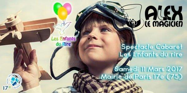 les enfants du rire mairie 17e Paris Magicien