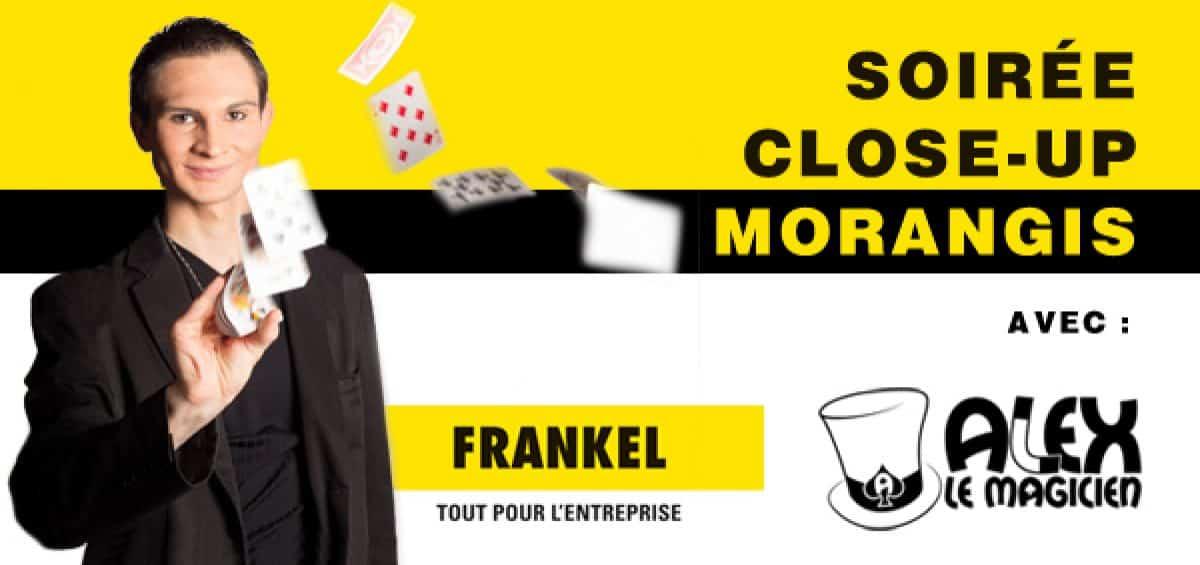 soirée spectacle close-up morangis frankel delight day