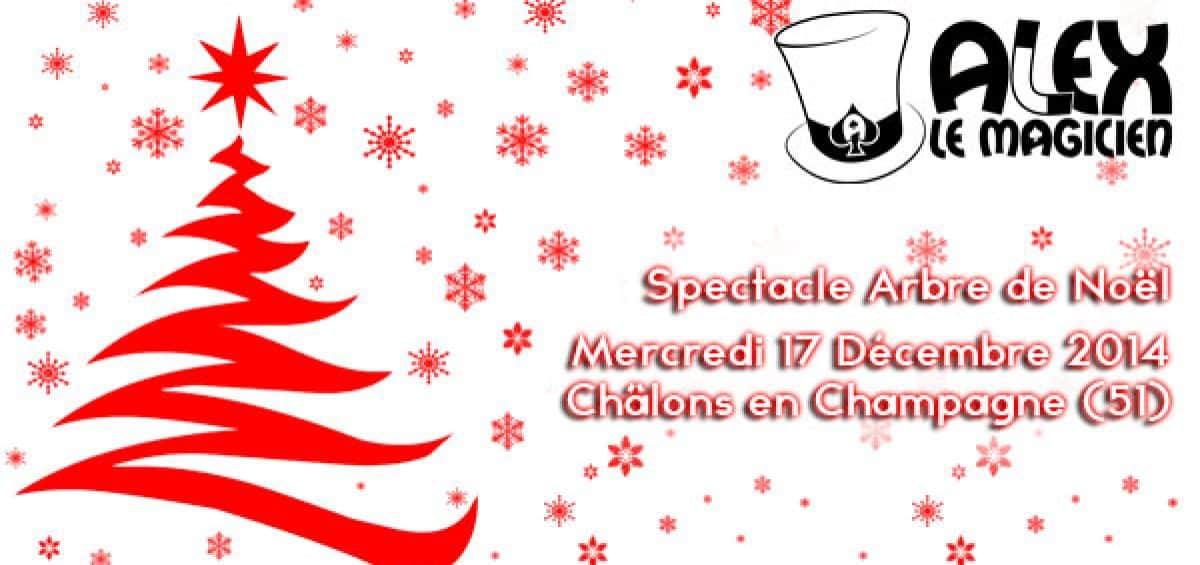 spectacle de magie arbre de noël CER ENSAM magicien Châlons en Champagne
