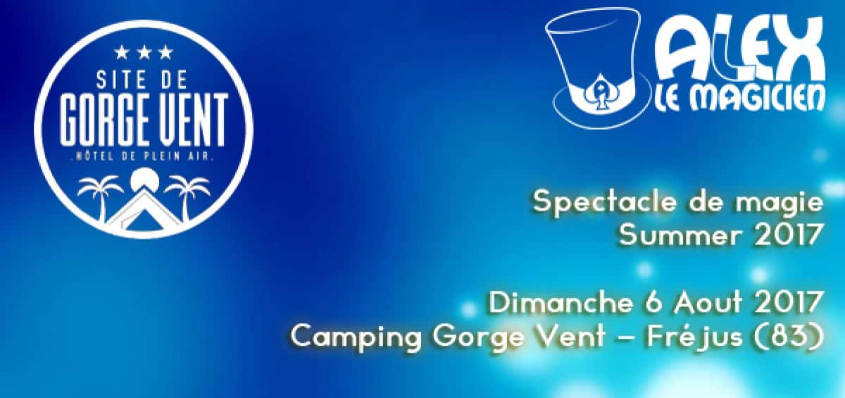 spectacle camping gorge vent alex magicien