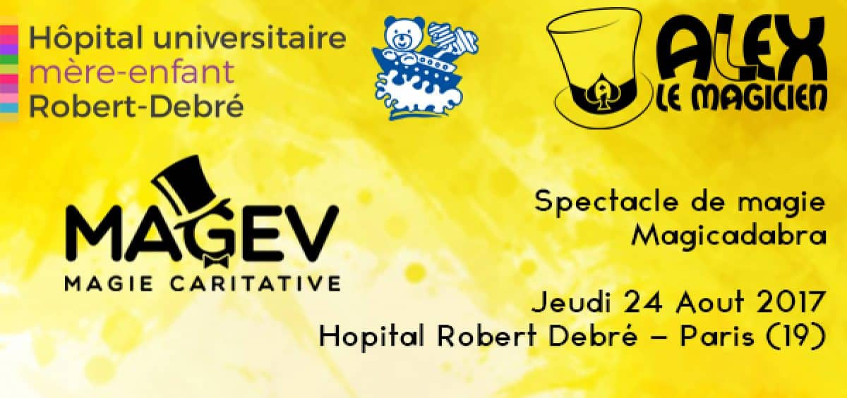 hopital robert debre paris spectacle magev magie
